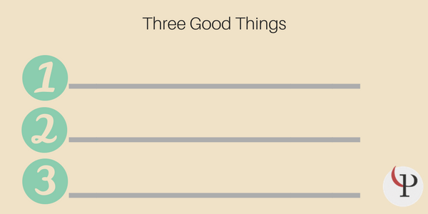 three good things exercise worksheet