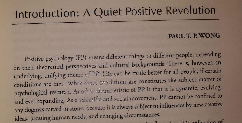 positive psychology definition example