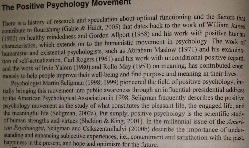 What Is Positive Psychology Seligman