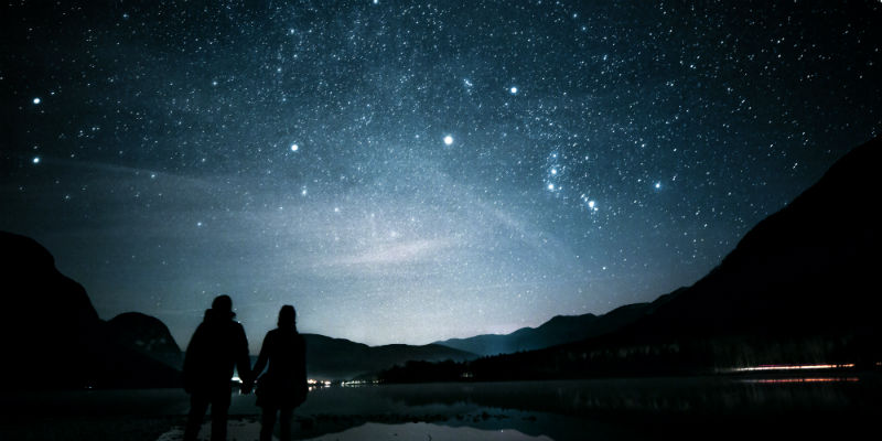 two people watching the stars - Mindfulness meditation research definition