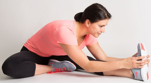 woman stretching - mbct stretching exercise