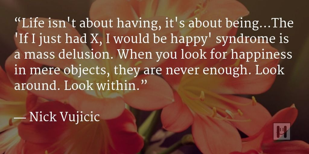 Nick Vujicic Positive Psychology Quotes