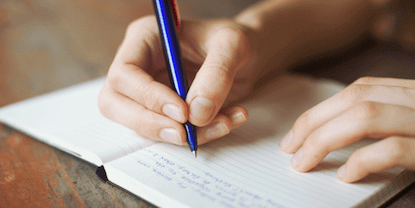 write down hassles and things you're grateful for
