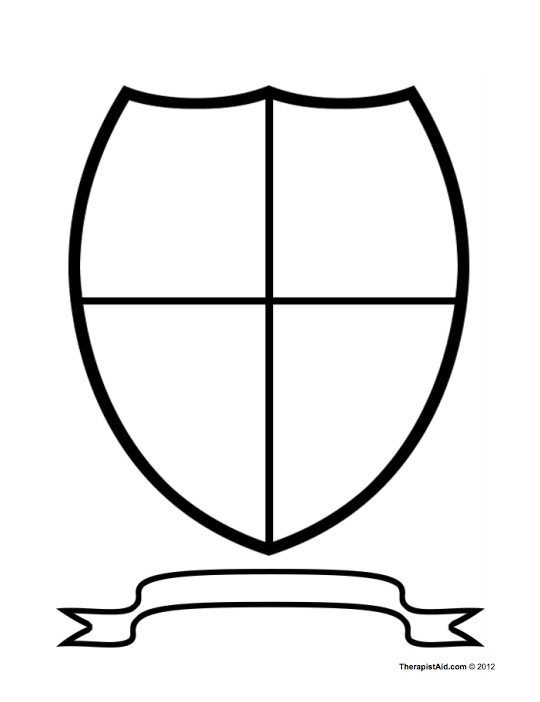 Coat of Arms / Family Crest self-esteem worksheet