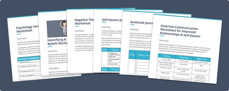 18 SelfEsteem Worksheets and Activities for Teens and Adults PDFs – Self Worth Worksheets