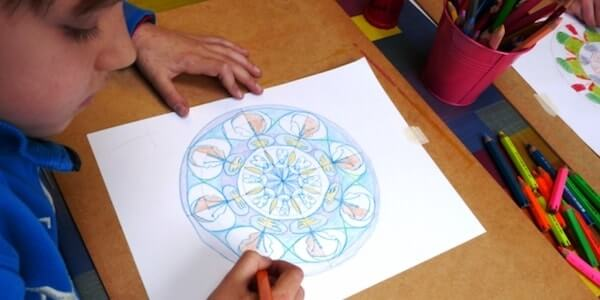 Mandala Drawings play therapy
