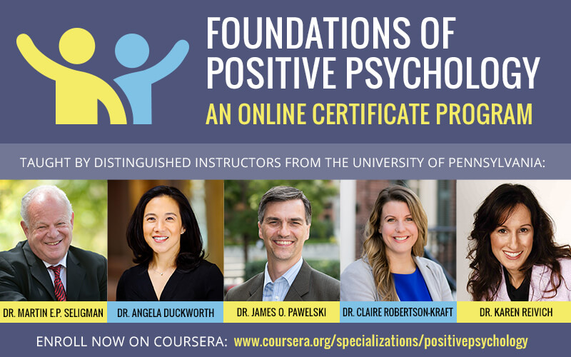 Foundations of Positive Psychology: An Online Certificate Program
