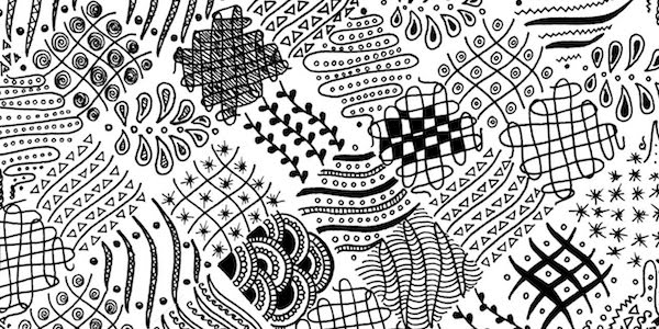 Zentangle art therapy worksheet