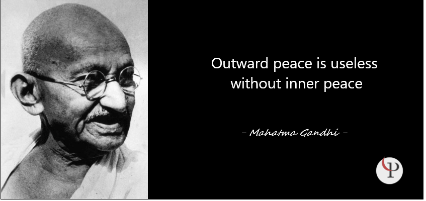 Outward peace is useless without inner peace