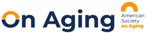 On Aging Conference Logo