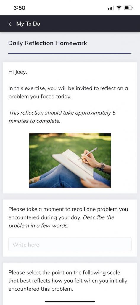 Daily Reflection Homework