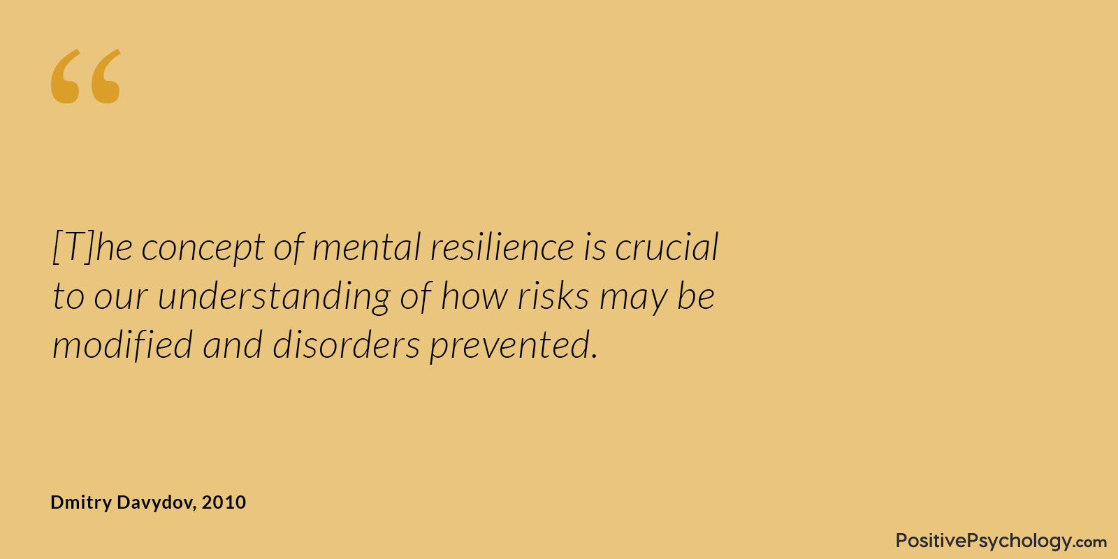 Davydov and Colleagues Resilience Risk Quote