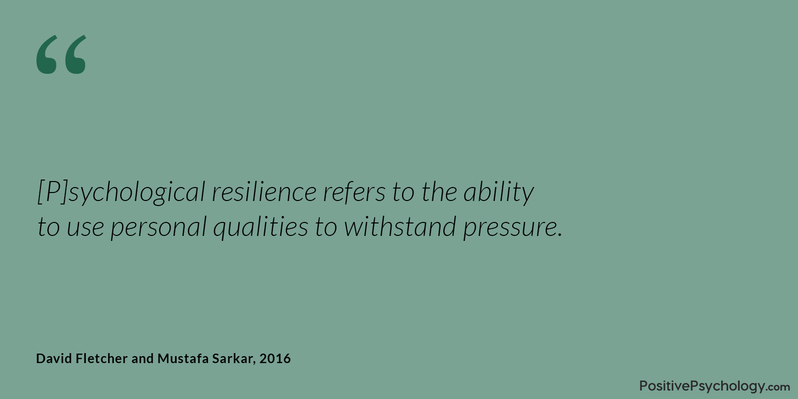Fletcher and Sarkar Resilience Personal Qualities Quote