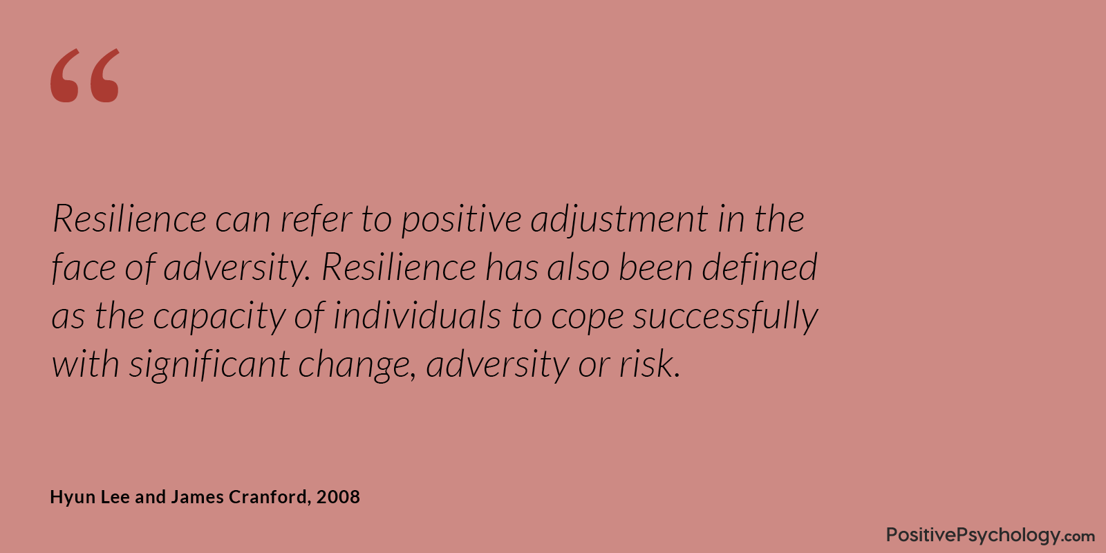 Lee and Cranford Resilience Positive Adjustment Quote