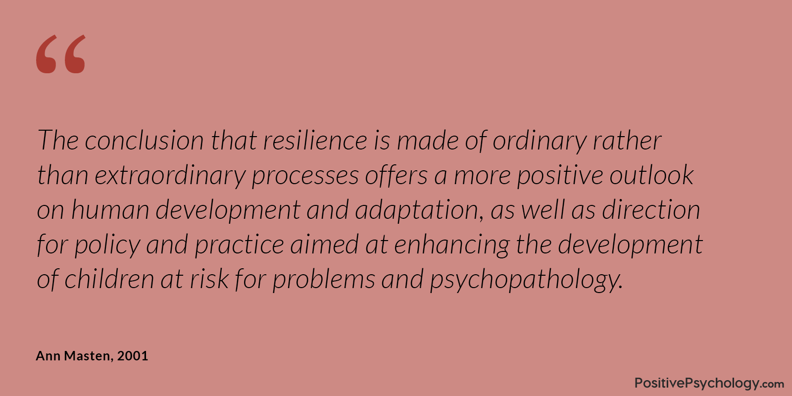 Masten Resilience Ordinary Processes Quote