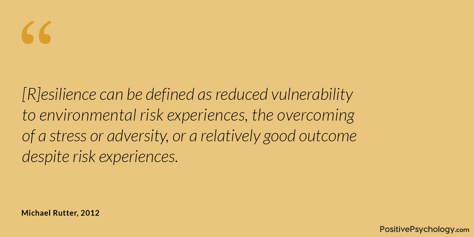 Rutter Resilience Reduced Vulnerability Quote