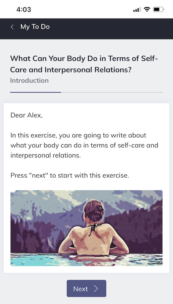 Quenza Self-Care and Interpersonal Relations