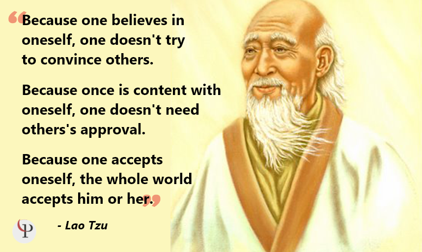Lao Tzu Quote on self-acceptance