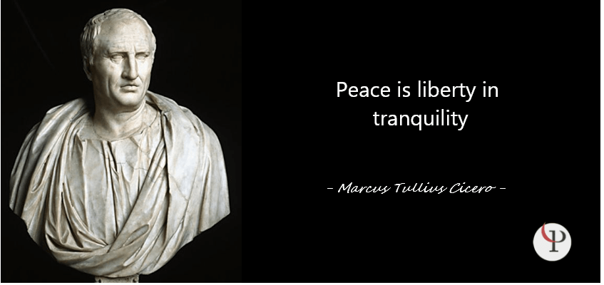 Peace is liberty in tranquility