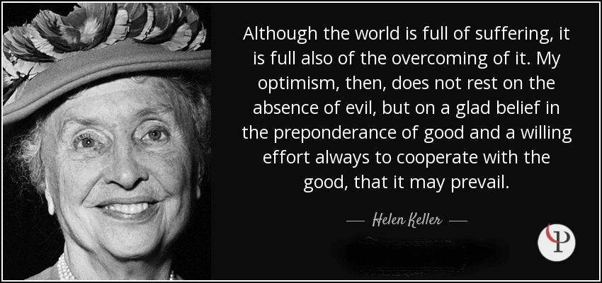 Hellen Keller Quote on Resilience