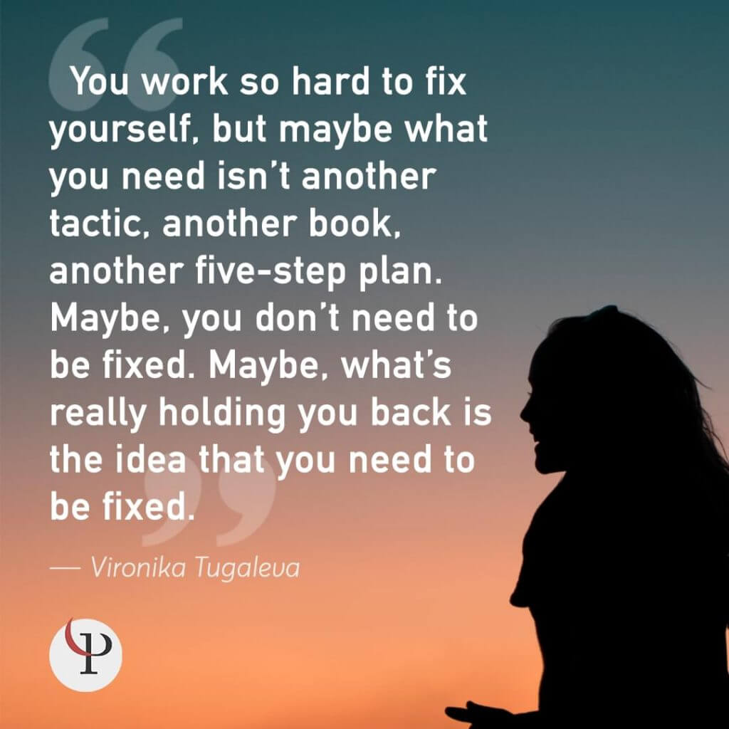 Vironika Tugaleva quote on self acceptance