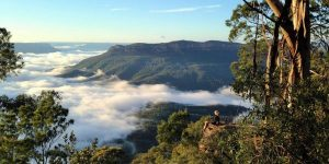 mountains, misty nature - suggestions for awe walk in nature
