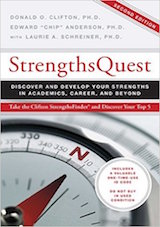 Clifton, D., & Anderson, E. C. (2002). StrengthsQuest- Discover and develop your strengths in academics, career, and beyond. Princeton, NJ- The Gallup Organization.