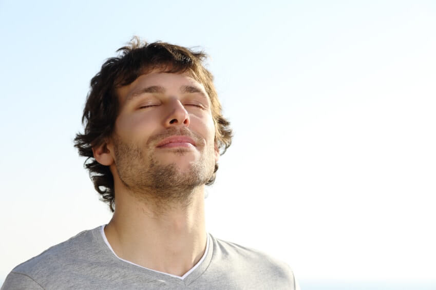 man breathing - mbct breathing excercise positivepsychologyprogram