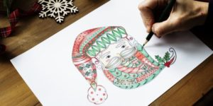 mindfulness coloring and art