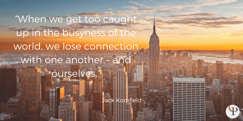 mindfulness quote jack kornfield