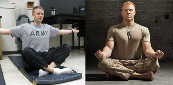 soldiers meditating - mindfulness apps soldiers veterans mindfulness coach