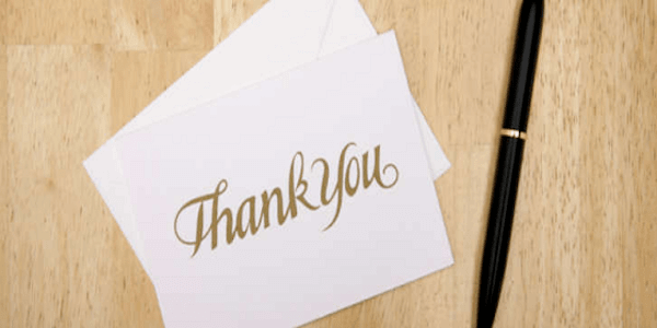 thank you letter - The Effects of Gratitude
