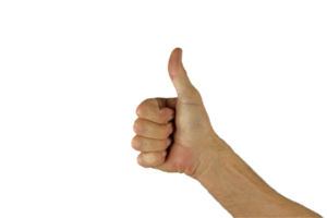 Giving a Thumbs-Up.