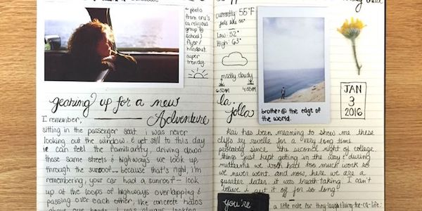 Journaling with Photographs writing therapy